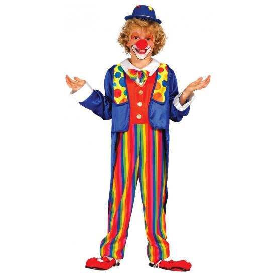 Clown kostuum voor kinderen. dit clown kostuum voor kinderen bestaat uit een jumpsuit met strik en jas. ...