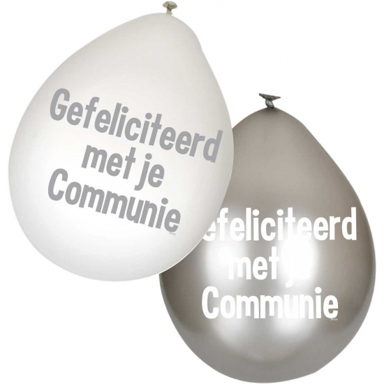Image of Communie ballonnen 6 stuks