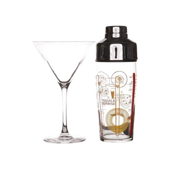 Image of Complete cocktailshaker met glazen