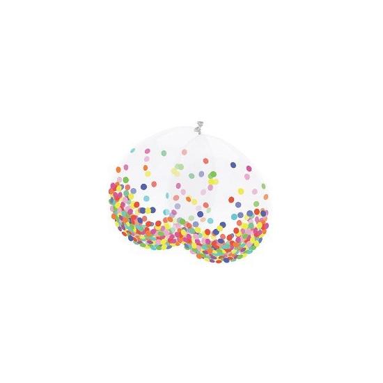 Image of Confetti decoratie ballonnen 6 stuks