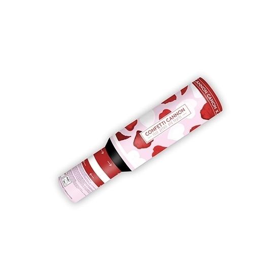 Image of Confetti kanon hartjes en rozenblaadjes