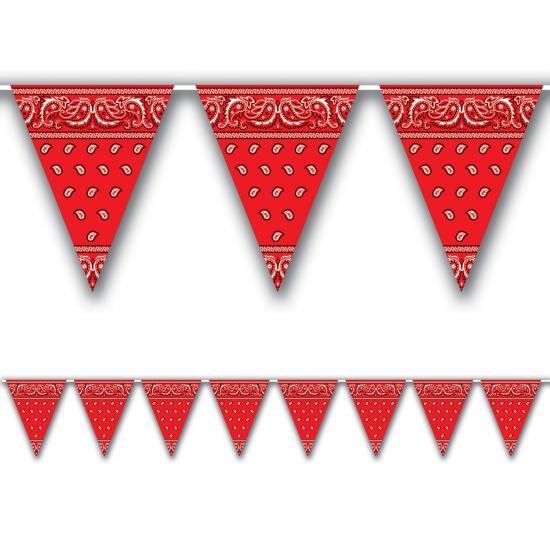 Cowboy versiering rode zakdoek vlaggenlijn