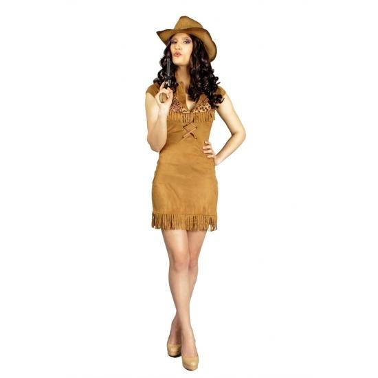 Cowgirl bruin jurkje voor dames