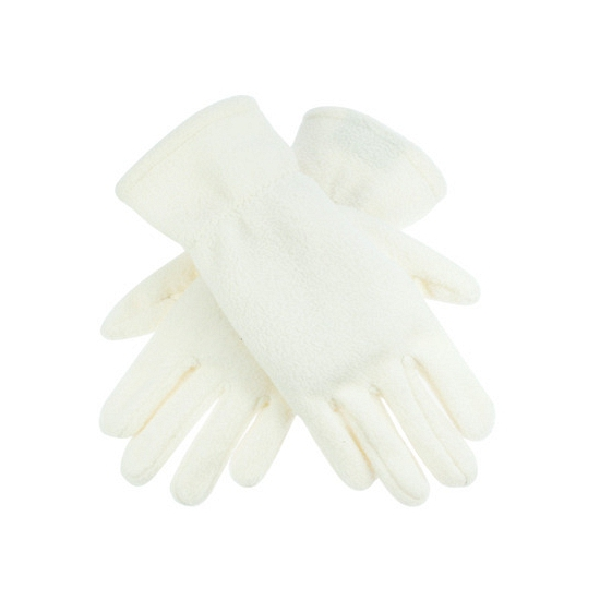 Image of Creme kleurige fleece handschoenen