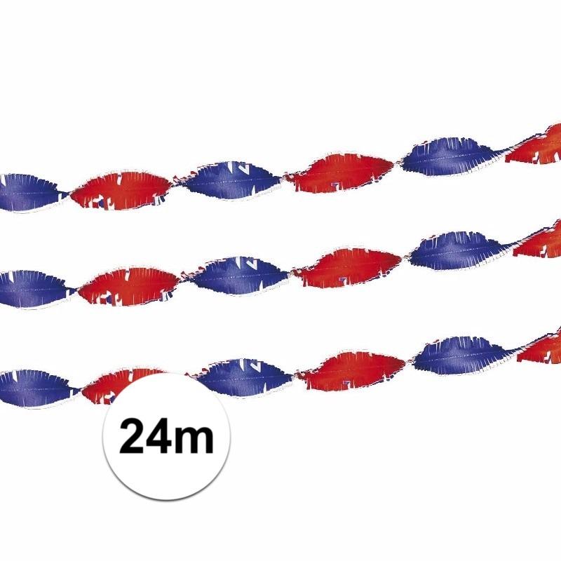 Image of Crepe slingers rood/wit/blauw