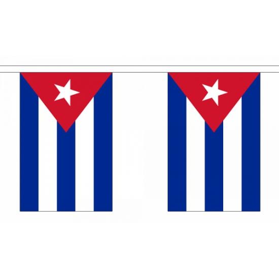 Cuba versiering vlaggenlijn 9 meter