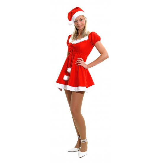 Image of Dames kerstkleding complete rode outfit