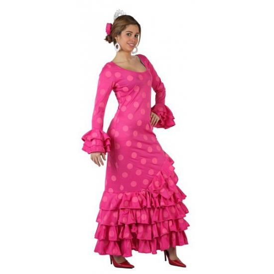 Dames outfit roze Flamenco jurk