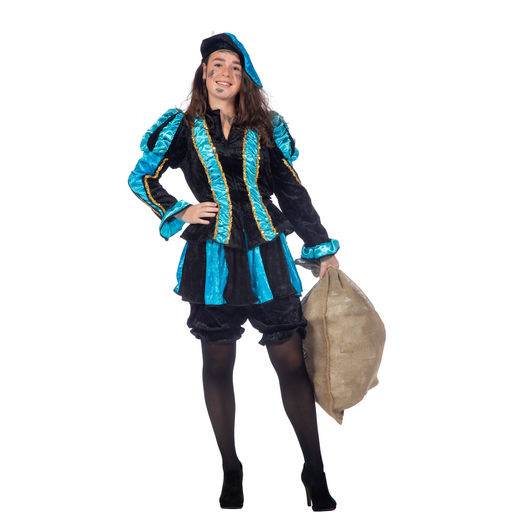 Image of Dames pieten pak blauw