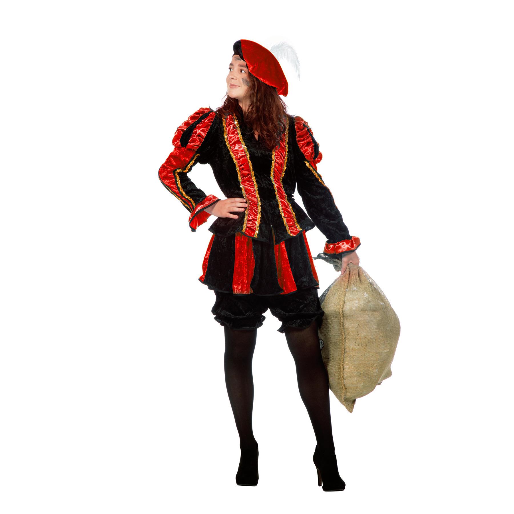 Image of Dames pieten pak rood