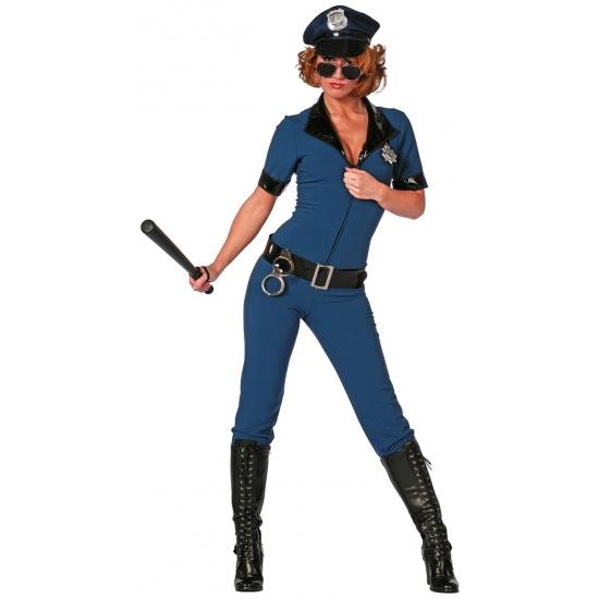 Politie jumpsuit voor dames. dit sexy politie dames kostuum bestaat uit de overall met bijpassende riem. ...