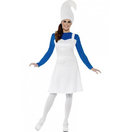 Image of Dames verkleed kostuum blauwe kabouter
