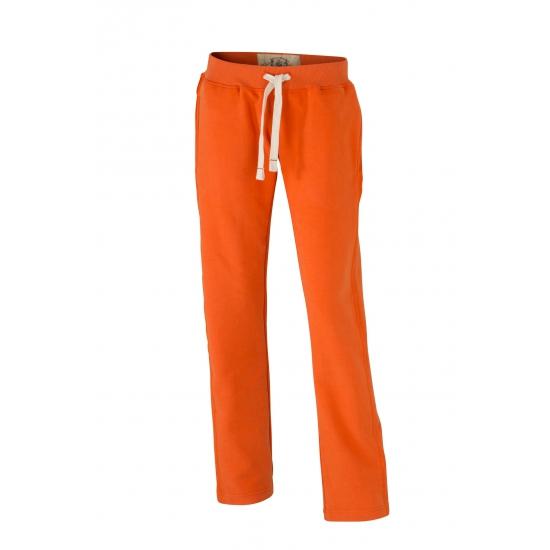 Image of Dames vrijetijdsbroeken oranje met steekzakken