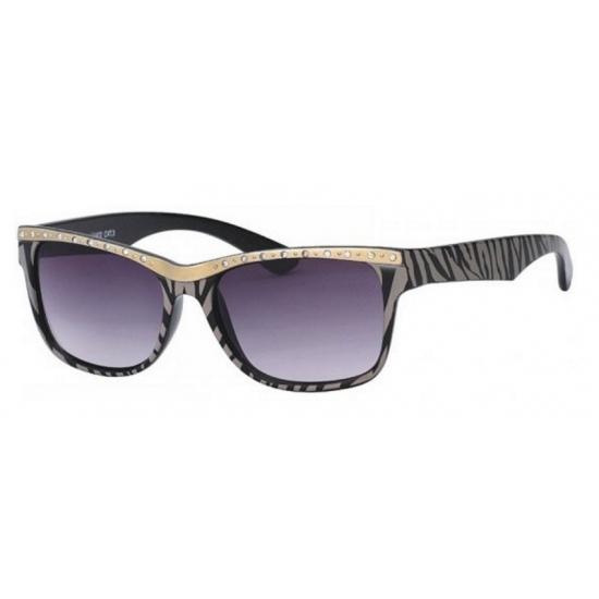 Image of Dames zonnebril tijgerprint zwart
