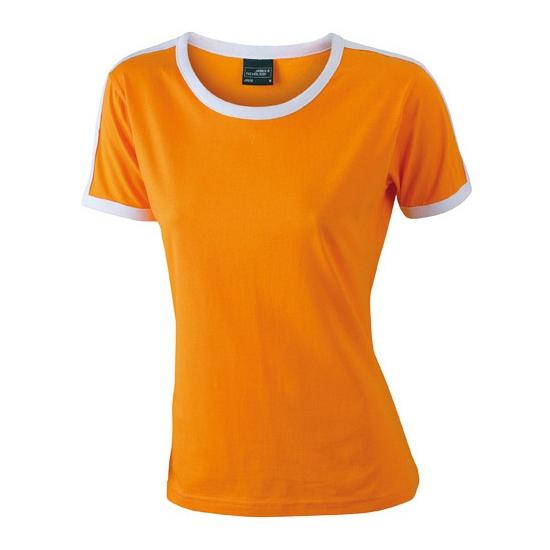 Image of Dameskleding oranje met wit t-shirt
