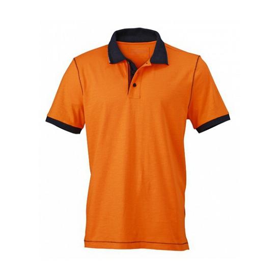 Image of Dameskleding oranje poloshirt met korte mouwen
