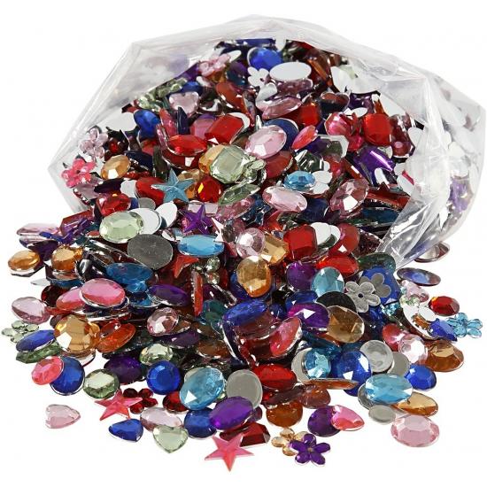 Image of Deco materiaal plak diamantjes 1600 stuks
