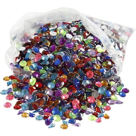 Image of Deco materiaal plak diamantjes 3000 stuks