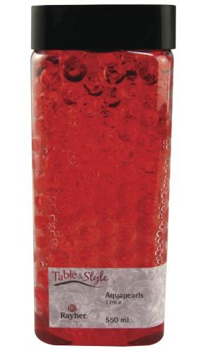 Image of Decoratie aqua parels rood 1 cm