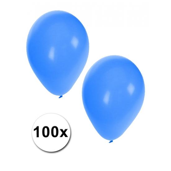 Decoratie ballonnen blauw 100 stuks