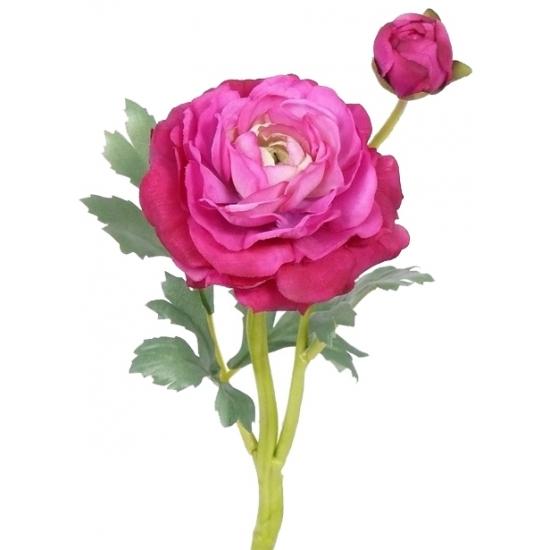 Image of Decoratie bloem roze Ranonkel 35 cm