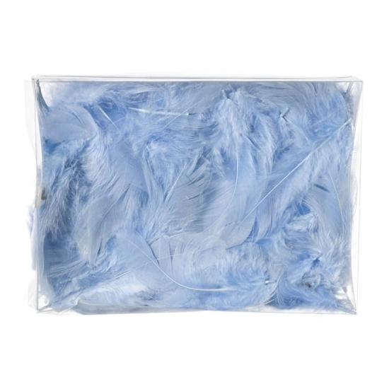 Image of Decoratie dons veren blauw 5 gram