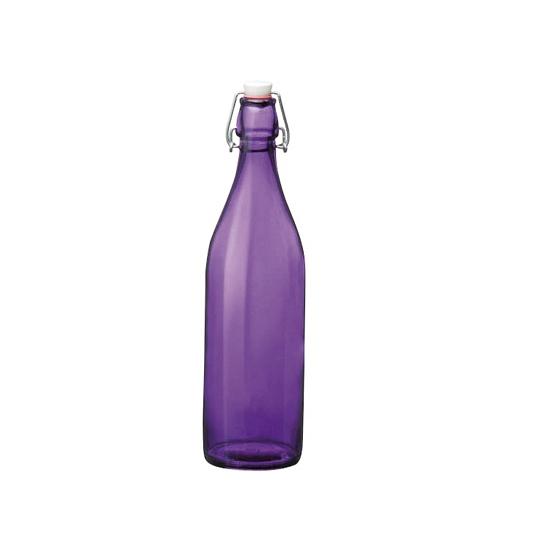 Image of Decoratie fles paars 1 liter