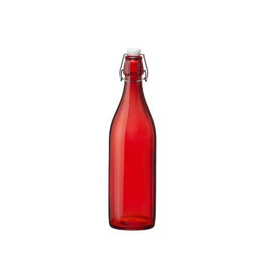 Image of Decoratie fles rood 1 liter