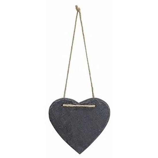Image of Decoratie hart 12 cm van leisteen