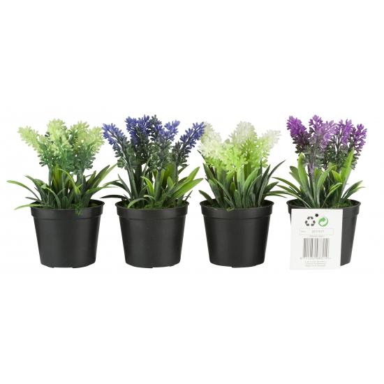 Image of Decoratie kunst lavendel groen 7,5 x 16 cm