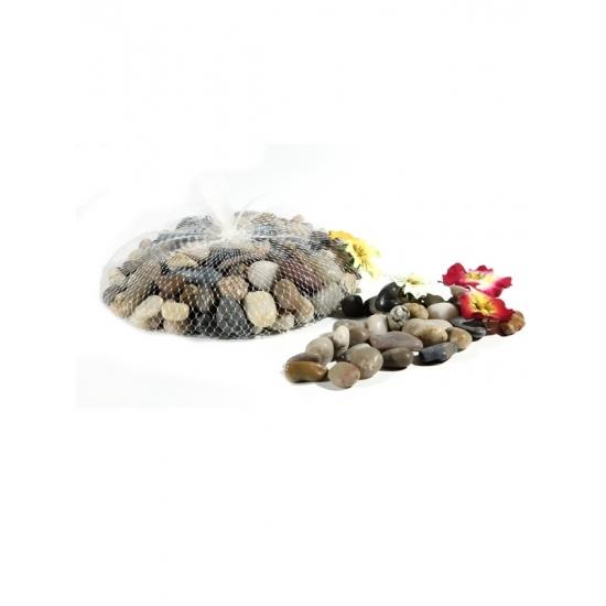 Image of Decoratie steentjes in netje 1 kg