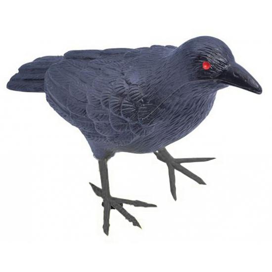 Image of Decoratie zwarte raaf van plastic