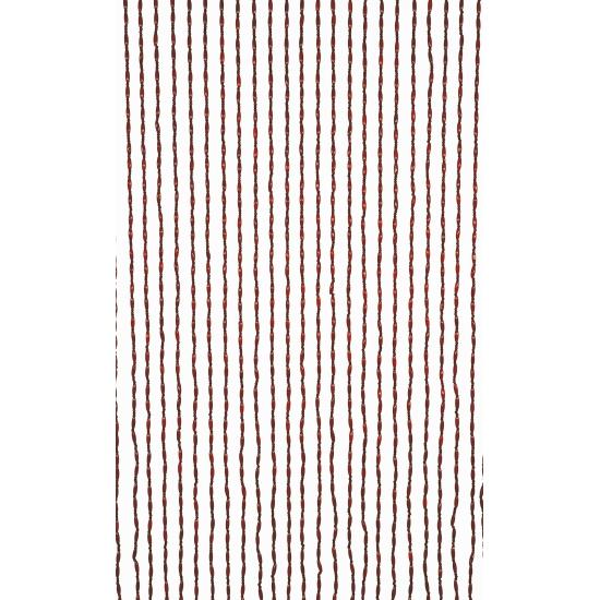 Image of Deurgordijn houten kralen bruin 220 cm