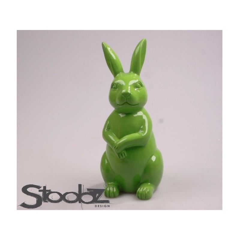 Image of Dierenbeeld haas / konijn groen 30 cm