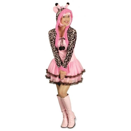 Image of Dierenkostuum giraf jurk voor dames