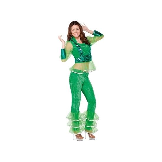 Image of Disco outfit groen voor dames