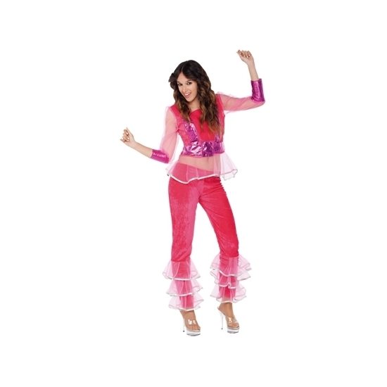Image of Disco outfit roze voor dames