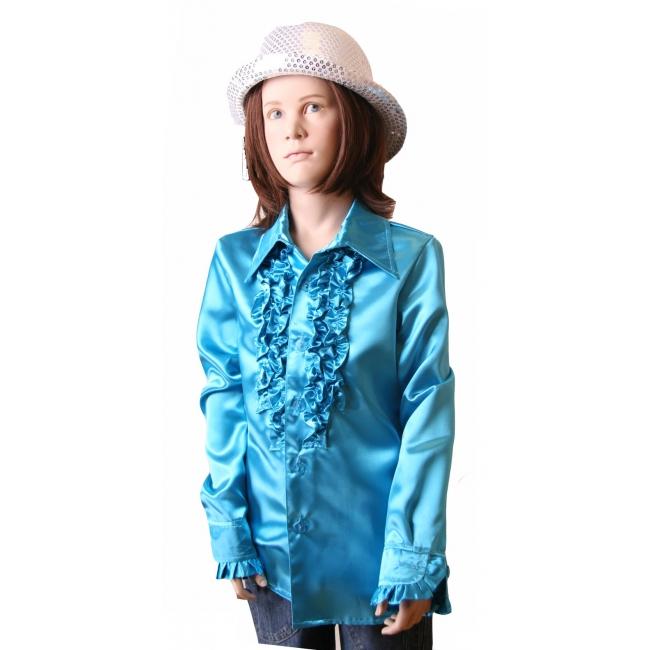 Image of Disco shirt blauw voor meisjes