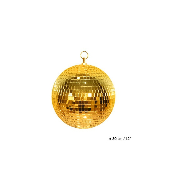 Image of Disco spiegel bal goud 30 cm