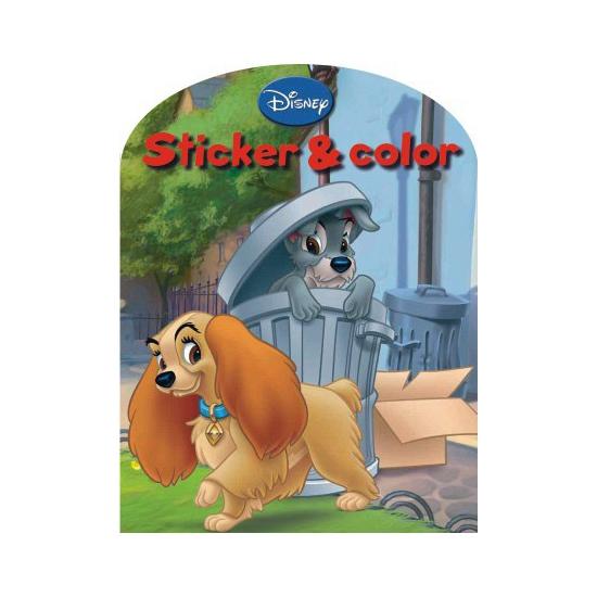 Image of Disney kleurplaten boek Lady en de Vagebond