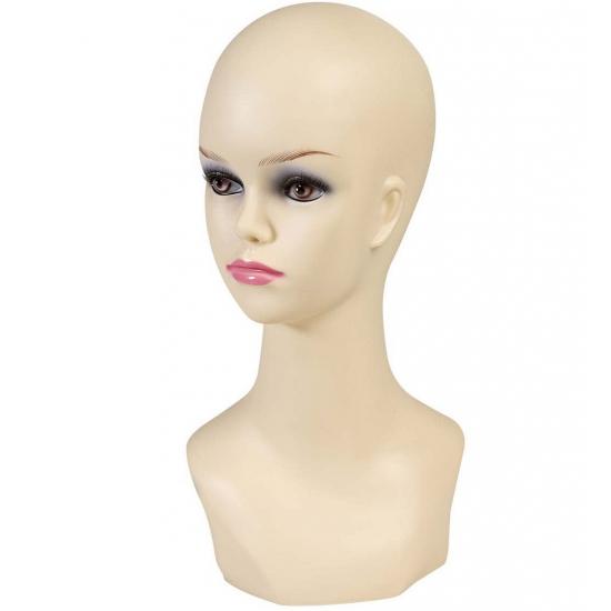 Image of Display hoofd blanke vrouw 40 cm