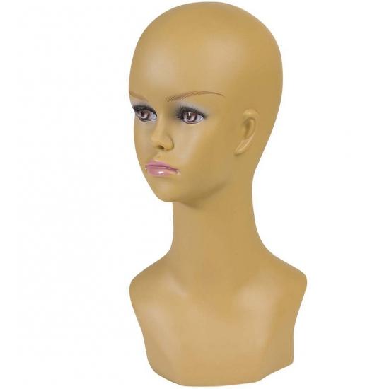 Image of Display hoofd halfbloed vrouw 40cm