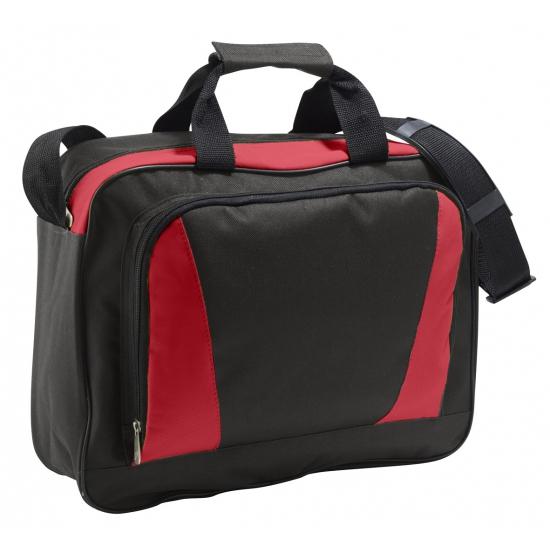 Image of Documenten tas rood/zwart 40 cm