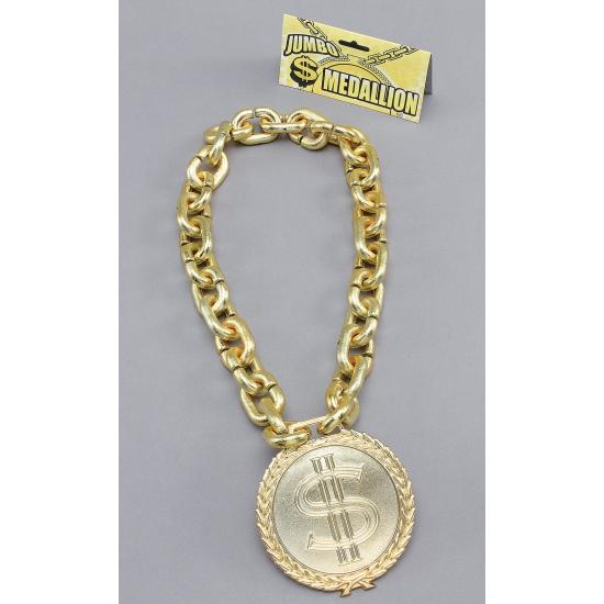 Image of Dollar teken ketting goud