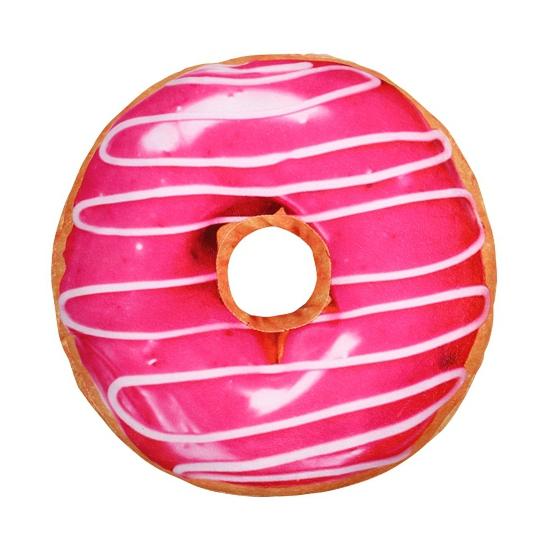 Image of Donut kussen roze 40 cm