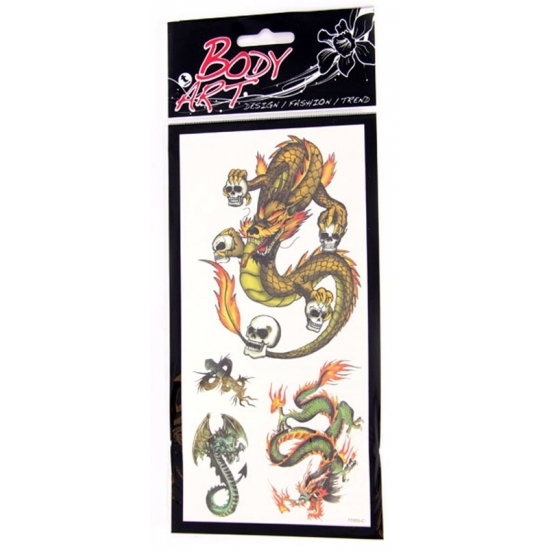 Image of Draken plak tatoeages type 1