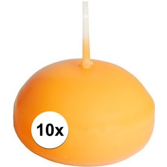 Image of Drijvende kaarsjes oranje 10 stuks