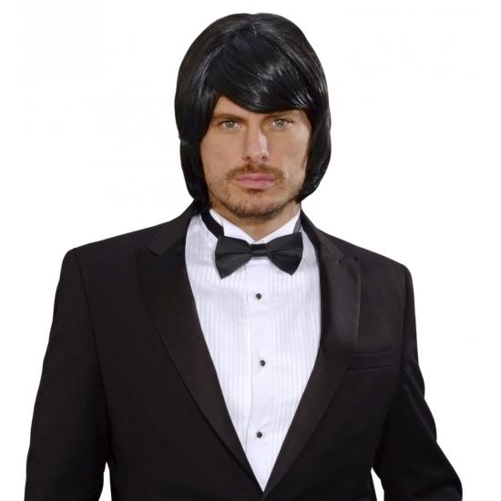 Image of Duitse heren pruik zwart