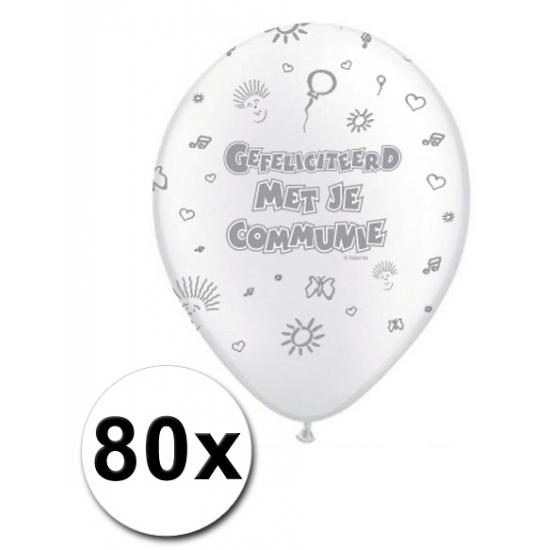 Eerste communie ballonnen 80 stuks