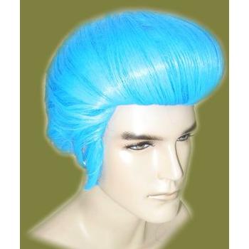 Image of Elvis verkleed pruik blauw
